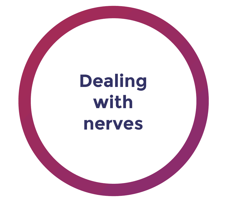dealing with nerves during media interviews