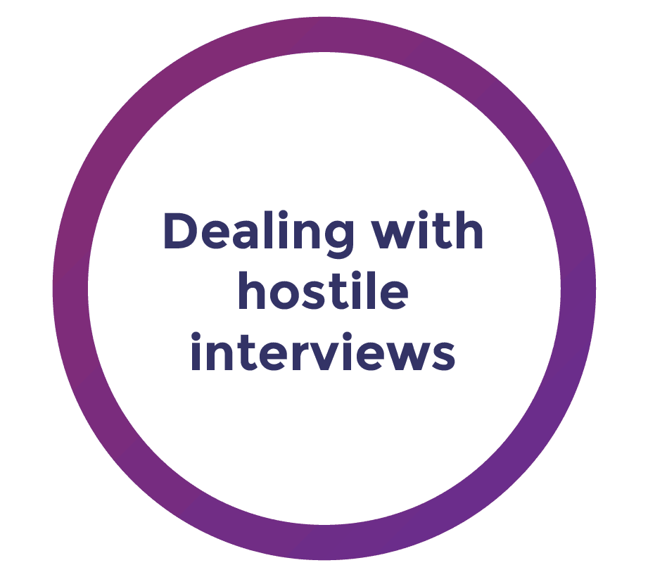 dealing with hostile media interviews